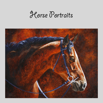 horse art by Crista Forest